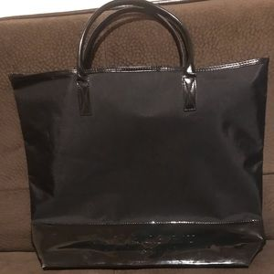 Burberry fragrance black tote bag
